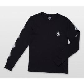Volcom Deadly Stone Black Junior Long Sleeve Tee Shirt