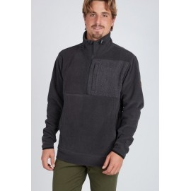 BILLABONG Boundary Mock Half Black Men's Fleece