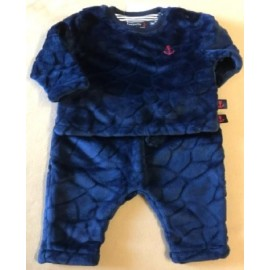 Marbled Baby Fleece Set Papylou Norvege Navy