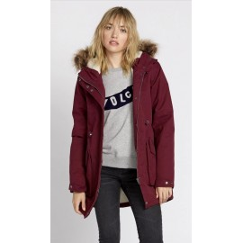 Woman Coat VOLCOM Less Is More 5K Zinfandel