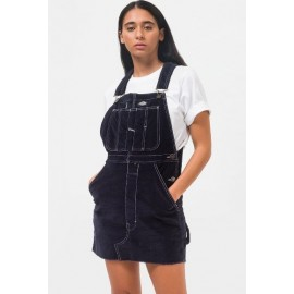 Dickies New Liberty Dark Navy Velvet Overalls Dress