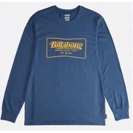 BILLABONG Trade Mark Dark Blue Long Sleeve Tee Shirt