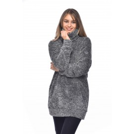 Pull Long BANANA MOON Loelia Myway Gris Chiné