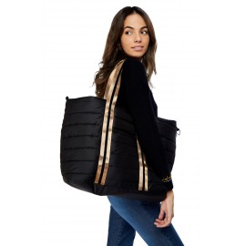 BANANA MOON Damaris Lizelin Black Quilted Bag