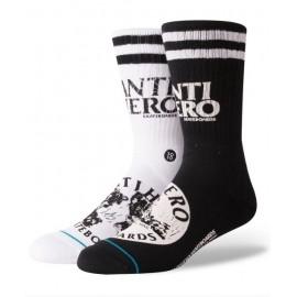 Chaussettes STANCE Skate Antihero Black
