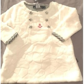 Fleece Baby Dress PAPYLOU Finlande Ecru