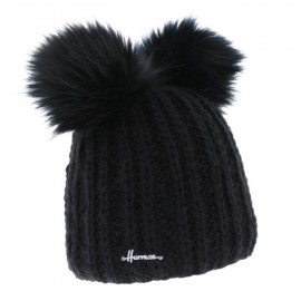 HERMAN Hat Maggy 8610 Black Double Pompon