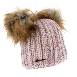 HERMAN Hat Maggy 8610 Beige Double Pompon