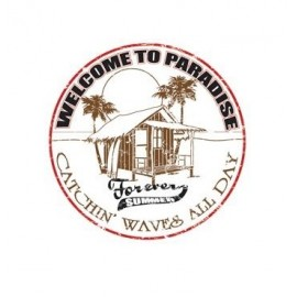 Plaque ALU Welcome to paradise