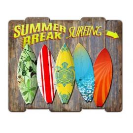 Tableau En Bois Wood Summer Break