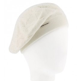 Beret Woman HERMAN Louise 028 White Strass