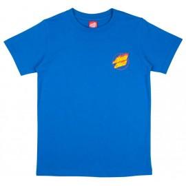 Tee Shirt Santa Cruz Junior Flame Hand Royal