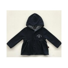 Child Girl Fleece Jacket Papylou Navy Fleece