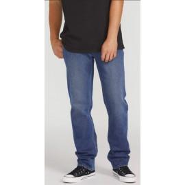 Volcom Denim Pants Men Solver Vintage Pacific Blue