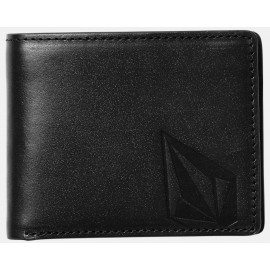 Volcom Straight Leather Wallet Black