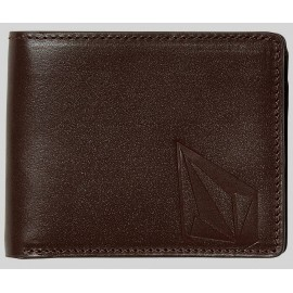 Volcom Straight Leather Wallet Brown