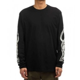 Men's Long Sleeve T-Shirt ELEMENT Snakes Flint Black