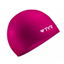 TYR Neon Pink Silicone Swimming Cap