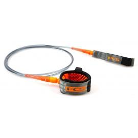 Leash FCS All Round Essential 7' Charcoal Blood Orange