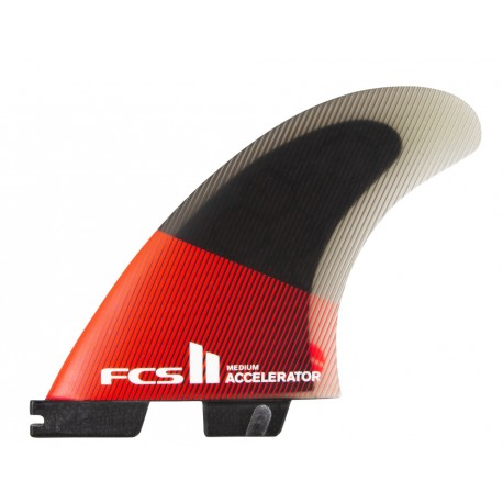 FCSII Accelerator PC Medium Red Black Tri Fins