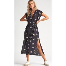 Billabong Little Flirt Black Floral Dress