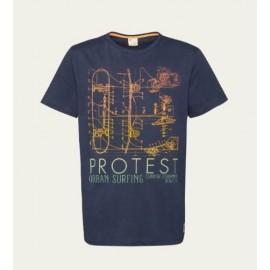 T-Shirt Junior Boy PROTEST Bolton Ground Blue