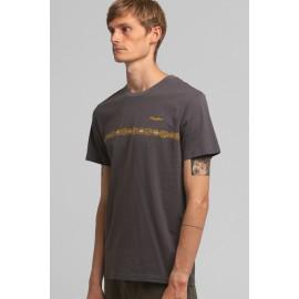Tee Shirt Homme RHYTHM Congo Stripe Charcoal