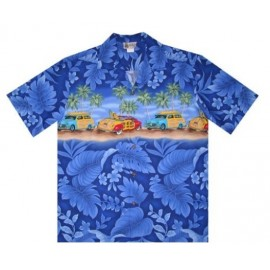 Chemise Aloha Republic Woody Blue