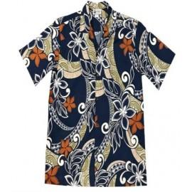 Aloha Republic Tapa Fusion Navy Shirt