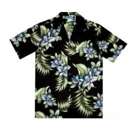 Aloha Republic Flower Black Shirt
