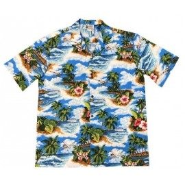 Chemise Aloha Republic Pacific Blue