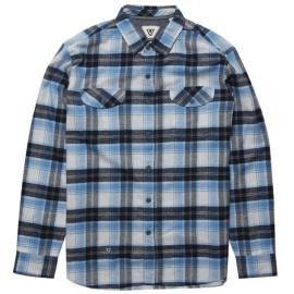 VISSLA Central Coast Blue Wash Flannel Shirt