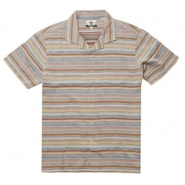 VISSLA Men's Shirt Baja Del Sur Rusty Red
