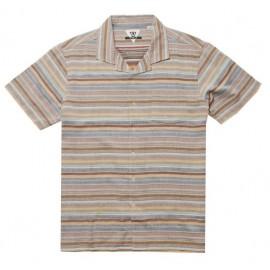 VISSLA Men's Shirt Baja Del Sur Rusty Red