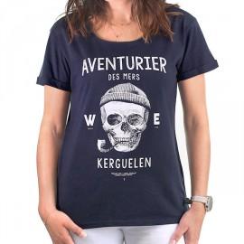 Tee Shirt Femme STERED Aventurier Des Mers Marine