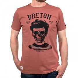 Tee Shirt Homme Stered Breton Bev Atav Rouille