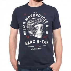 Men's T-Shirt STERED Breizh Motorcycle Klub Marin
