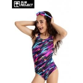 One Piece Swimsuit Child SUN PROJECT Waves Multi