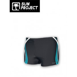 Men's Boxer Swimsuit SUN PROJECT Waves Black