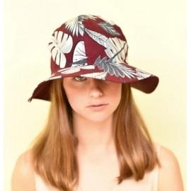 HERMAN Boogie Burgundy Capeline Fabric Hat