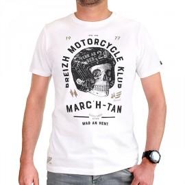 Men's T-Shirt STERED Breizh Motorcycle Klub White