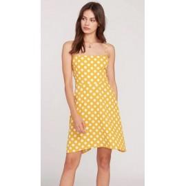 Volcom Read The Room Yellow Dress