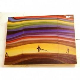 Tableau Bois Ola Ketal Remi Bertoche Rainbow