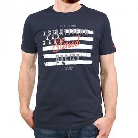 Tee Shirt Homme STERED Startijeen Drapeau Marin