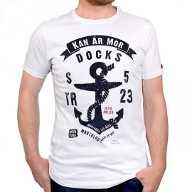 Men's T-Shirt STERED Anchor Kan Ar Mor White