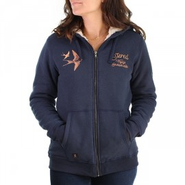 Sweat Doublé Sherpa Femme STERED Hirondelles Marin