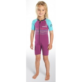 C-Skins Baby Wetsuit Shorty Waves 3/2mm Violet Cyan Navy