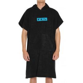 FCS Black Towel Poncho