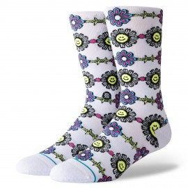 Chaussettes STANCE Spikey Face Lilac Ice