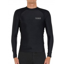 Lycra FCS Essential LS Rash Vest Black